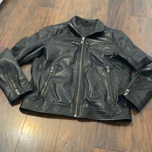 Men's leather jacket!  Size L!